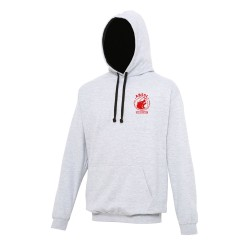 Sweat capuche bicolore adulte
